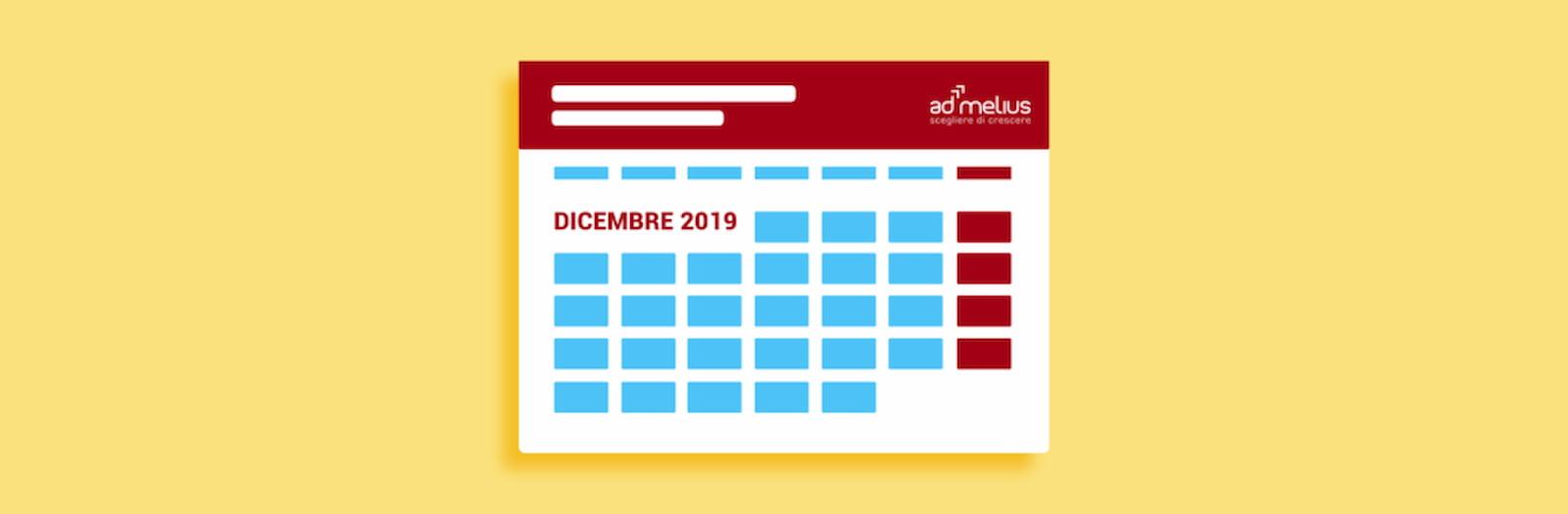 CALENDARIO EVENTI DICEMBRE 2019