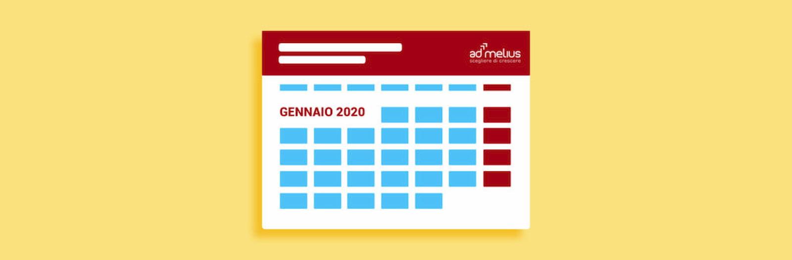 CALENDARIO EVENTI GENNAIO 2020