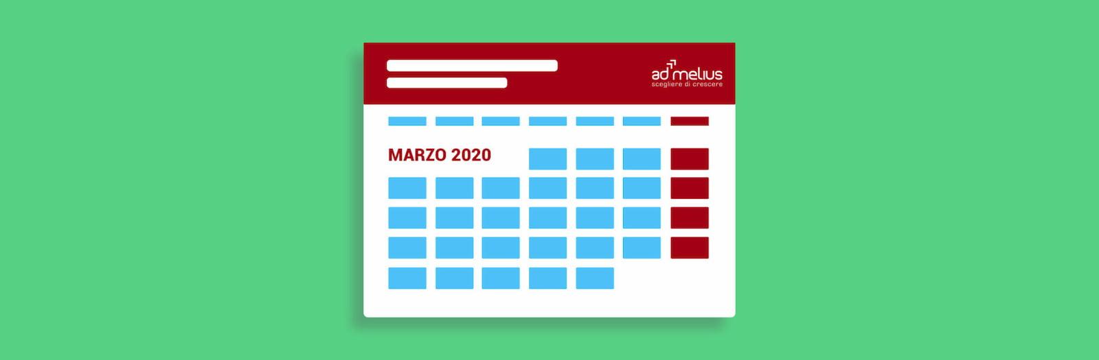 CALENDARIO EVENTI MARZO 2020