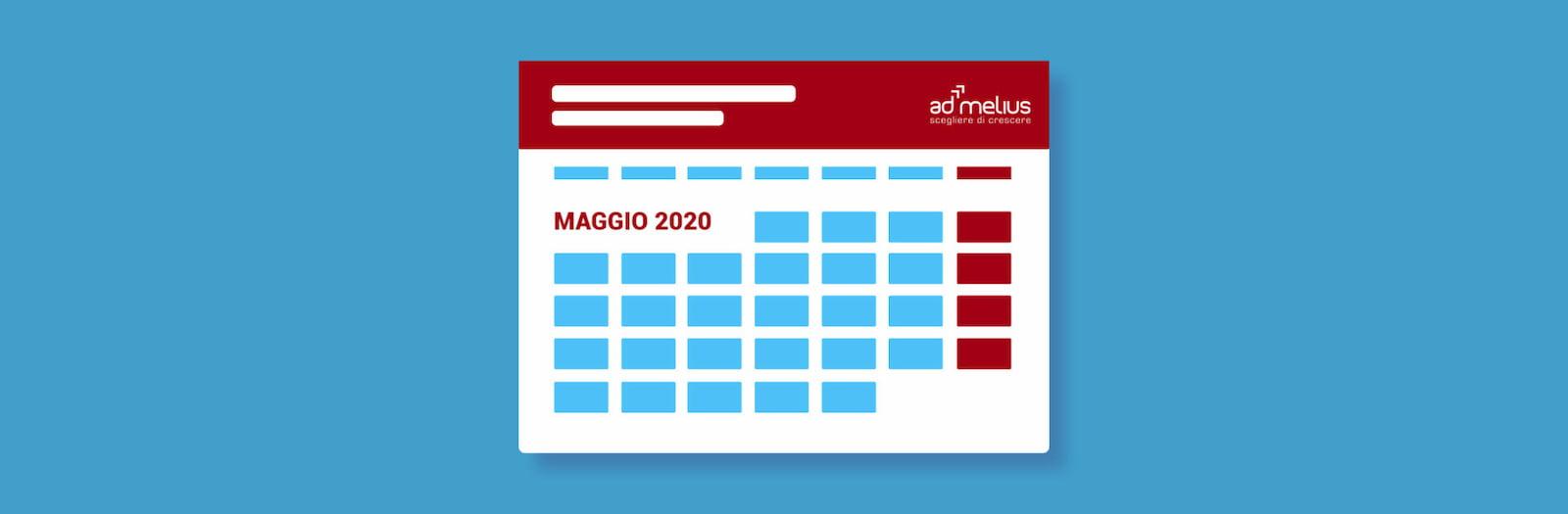 CALENDARIO EVENTI MAGGIO 2020