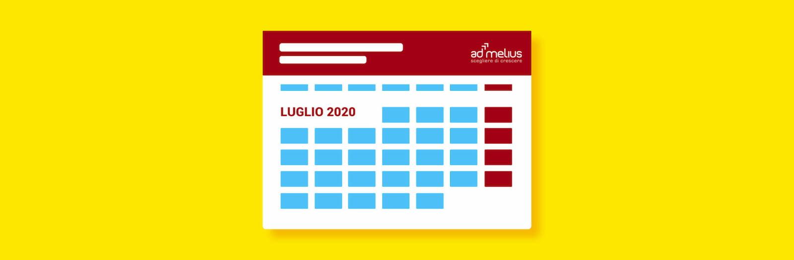 CALENDARIO EVENTI LUGLIO 2020