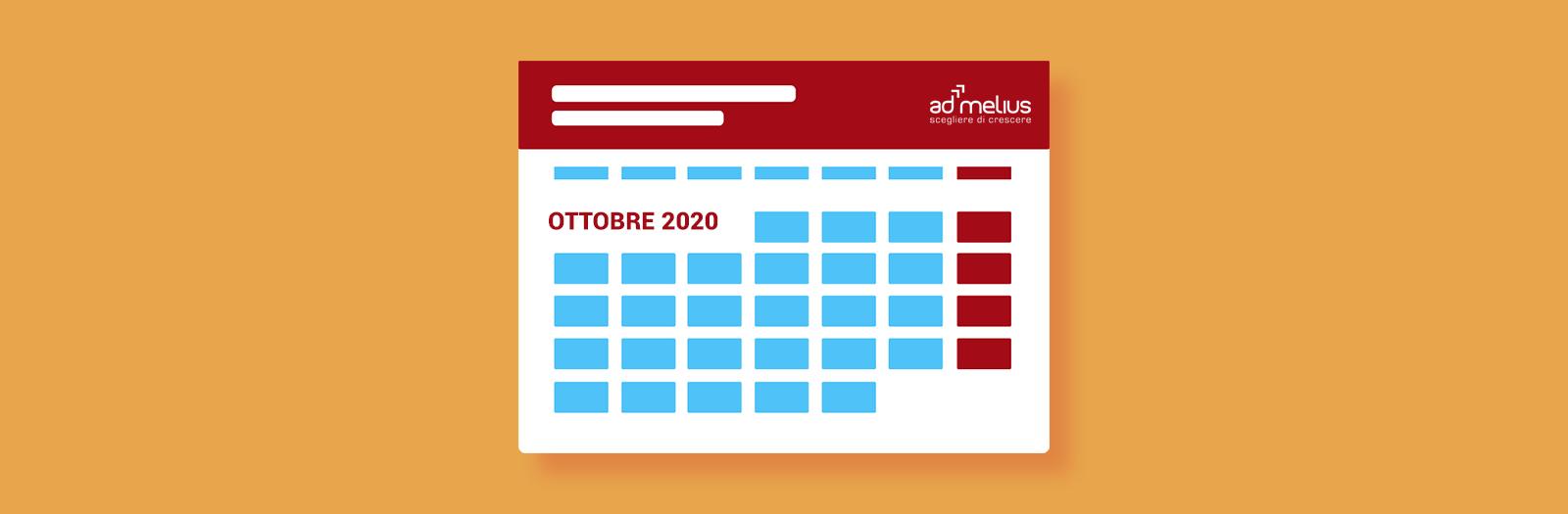calendario eventi ottobre 2020