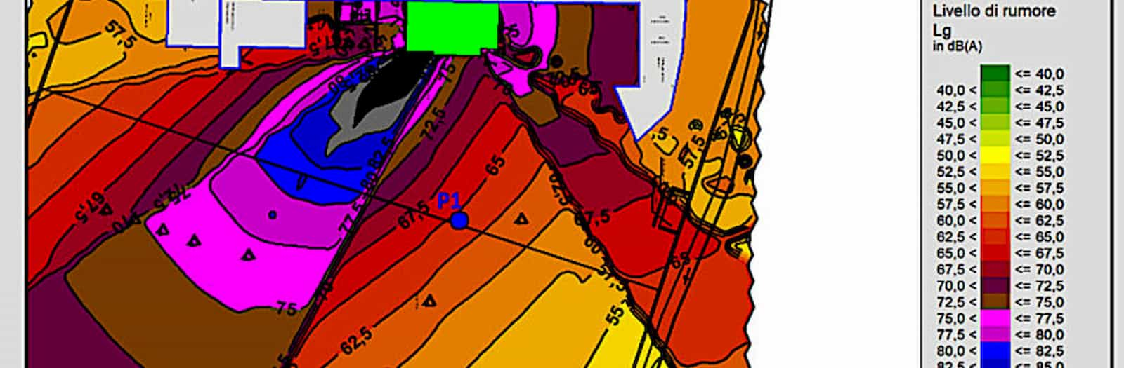mappatura rilevazione impatto acustico